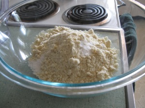 Almond flour, baking soda & salt